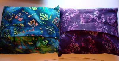 Batik Buckwheat Hull Pillows