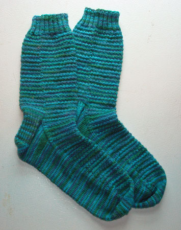 Cherry Tree Hill Aqua Mistake Rib Socks